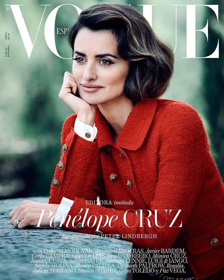 Penelope Cruz covers Vogue Spain April 2019