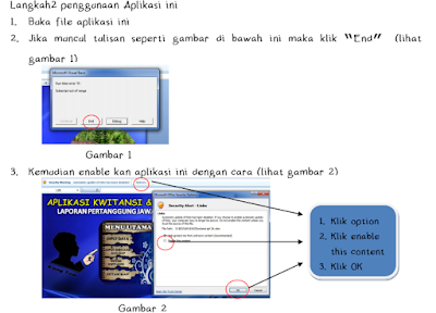 gambar petunjuk aplikasi kwitansi dan BAP