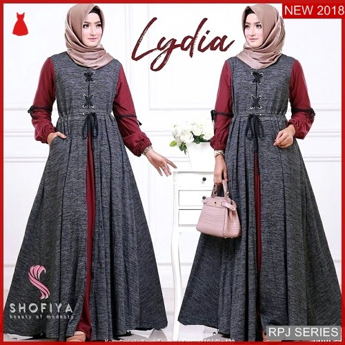 RPJ031D324 Model Dress Lydia Cantik Maxy Wanita