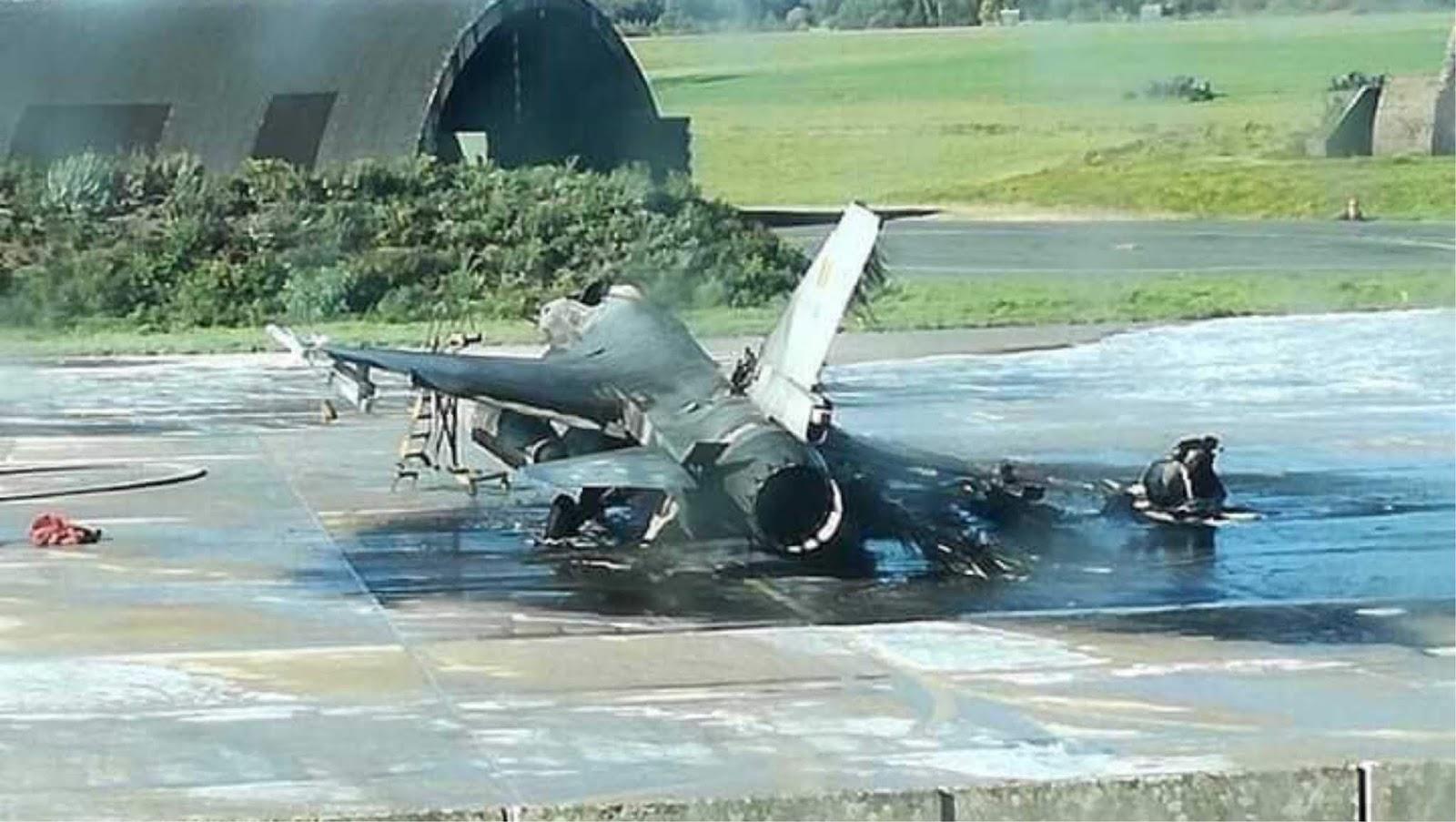 Pesawat F-16 Angkatan Udara Belgia ternyata tidak sengaja di tembak oleh mekanik