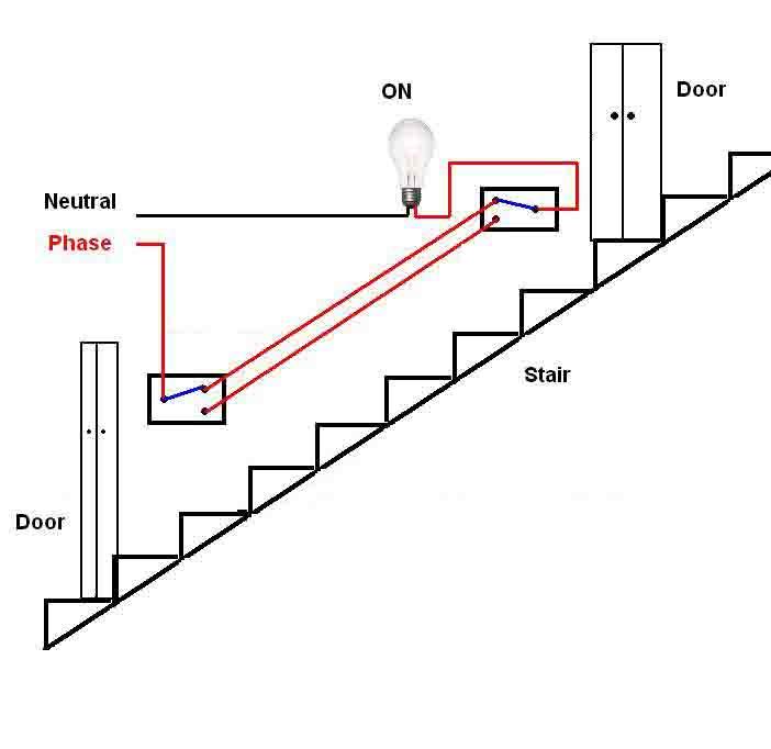 eetym: Stair case wiring circuit