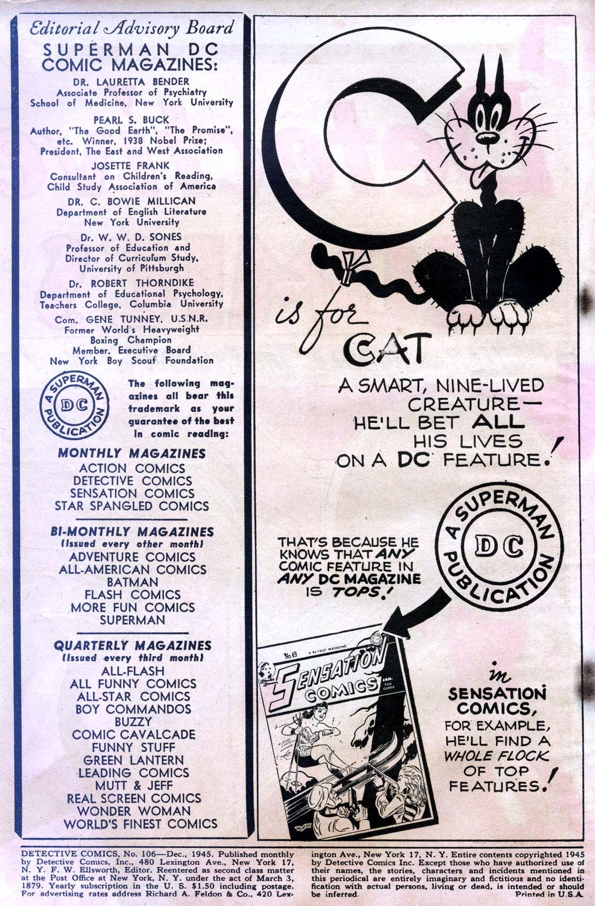 Read online Detective Comics (1937) comic -  Issue #106 - 2