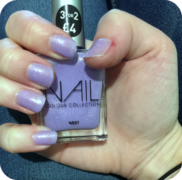 next nail varnish sweet pea review