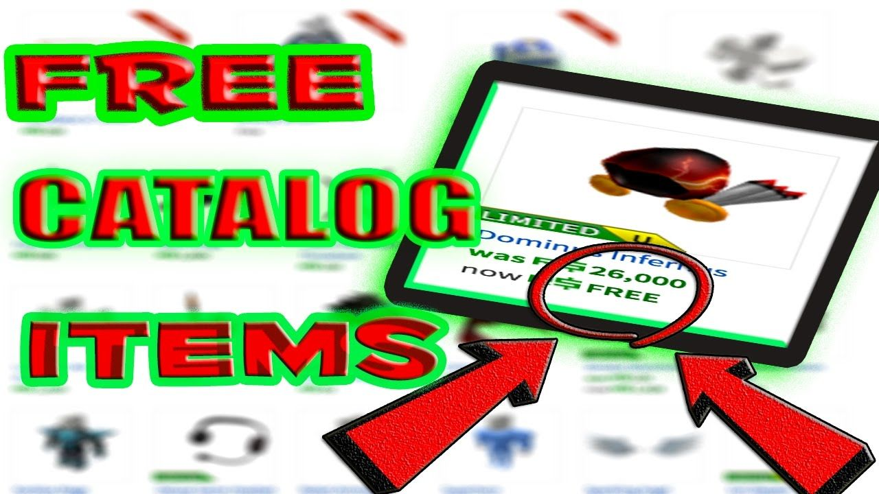 how to get free catalog items on roblox 2019