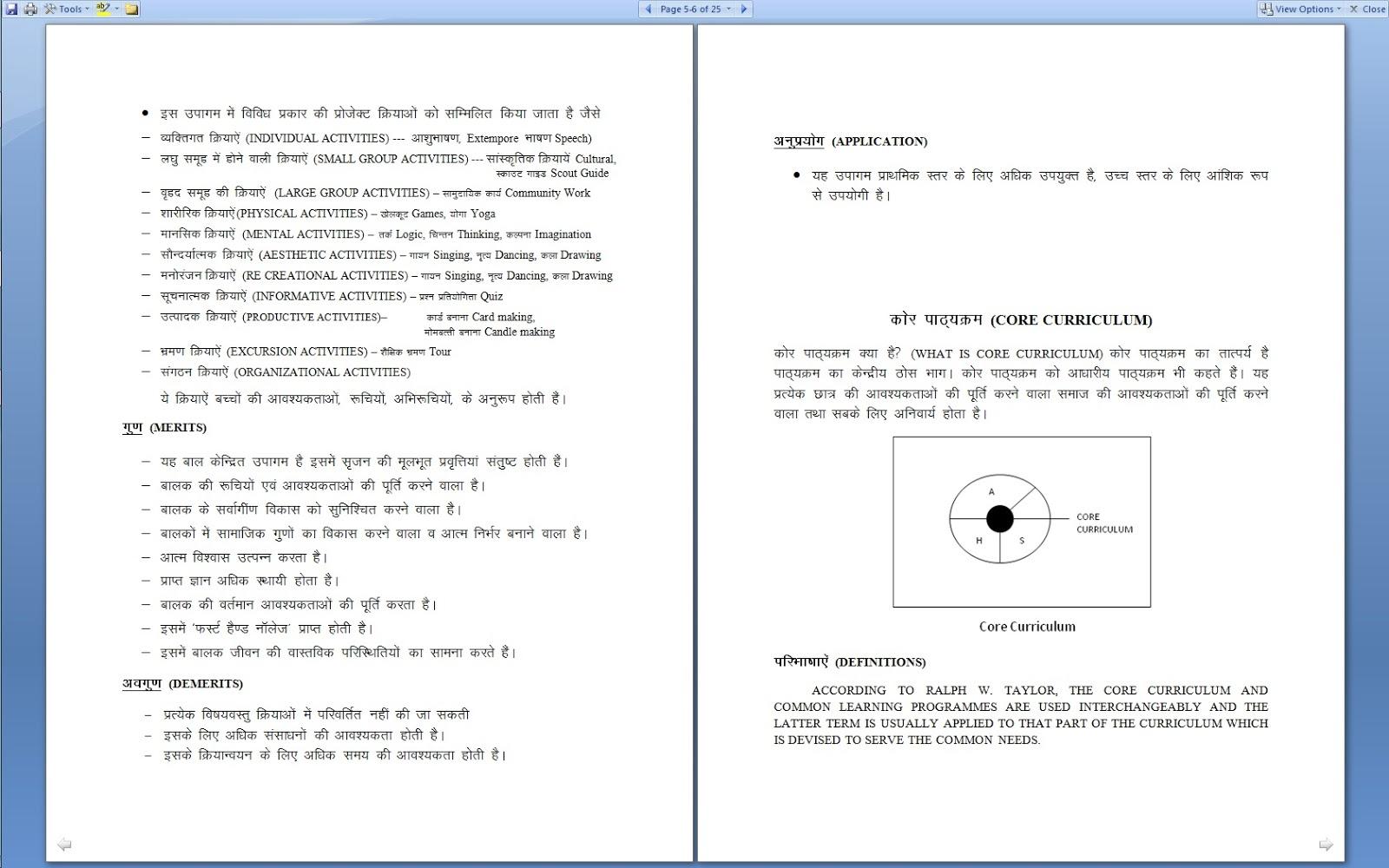 Curriculum: TYPES OF CURRICULUM