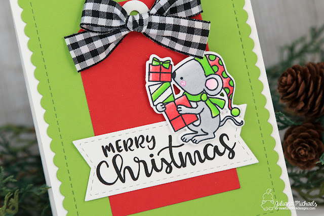 Merry Christmas Mouse Card by Juliana Michaels featuring Newton's Nook Designs Naughty or Mice Stamp Set