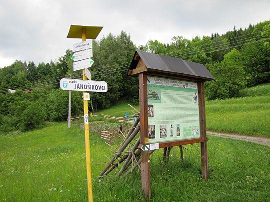 Droga do osady Jánošíkovci.