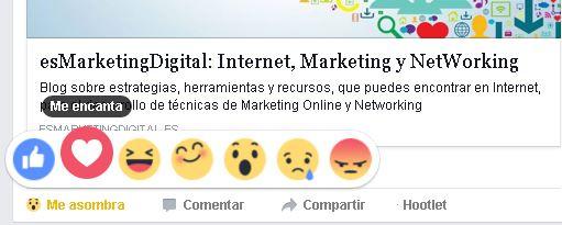 Facebook añade el nuevo botón de Me gusta, se llama Reacciones.