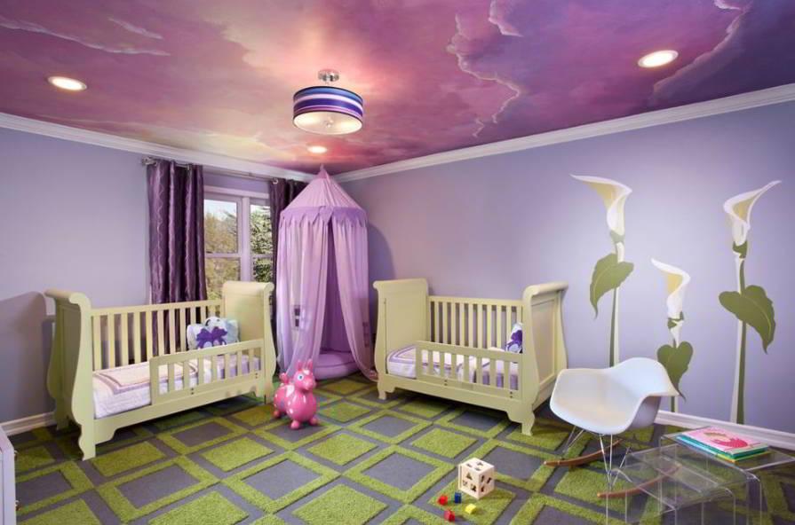 Contoh Desain Plafon Kamar Tidur Anak