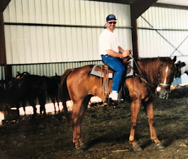 Here's me on the horse at camp...