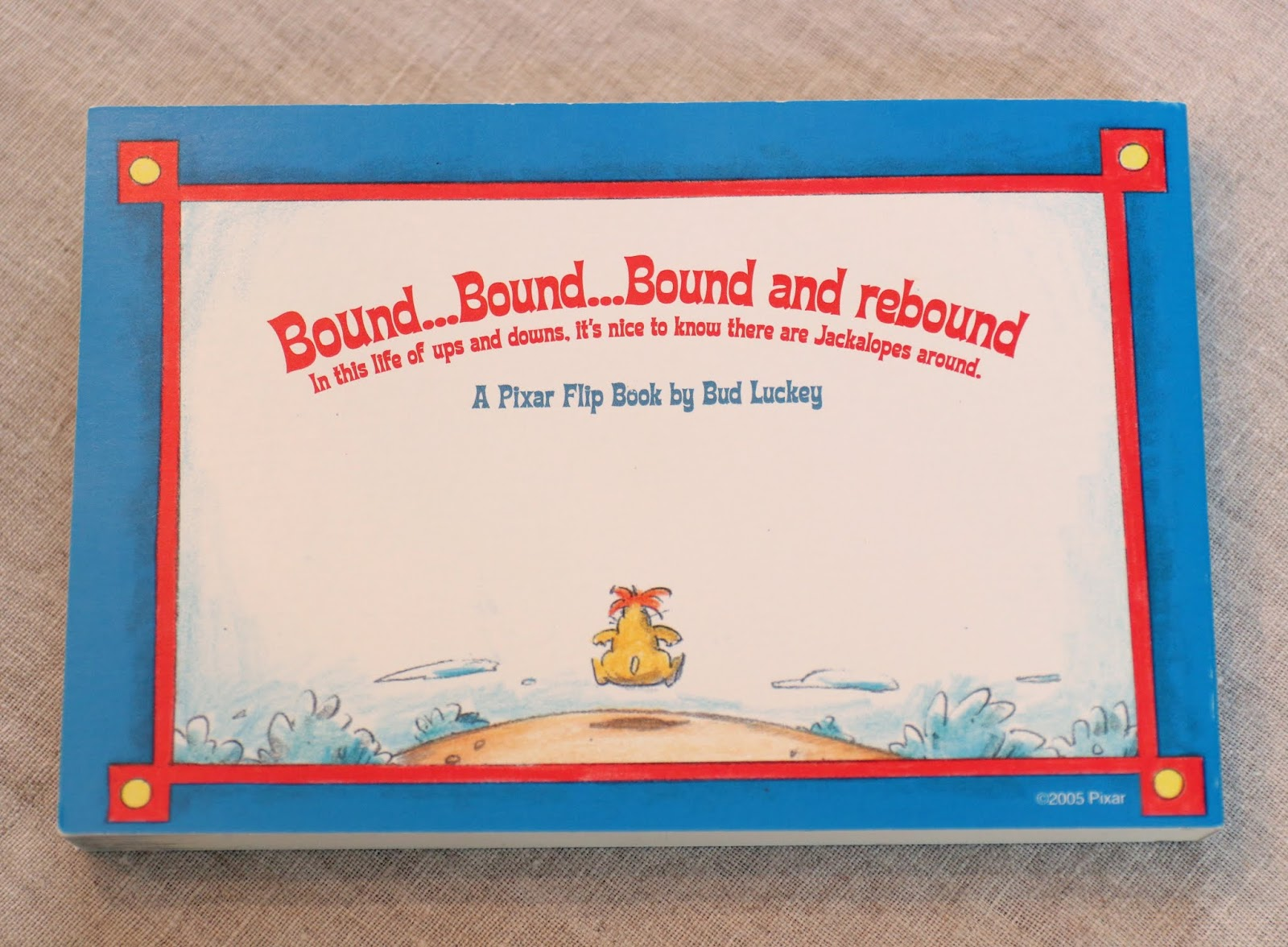 pixar studio store a bit of boundin flip book