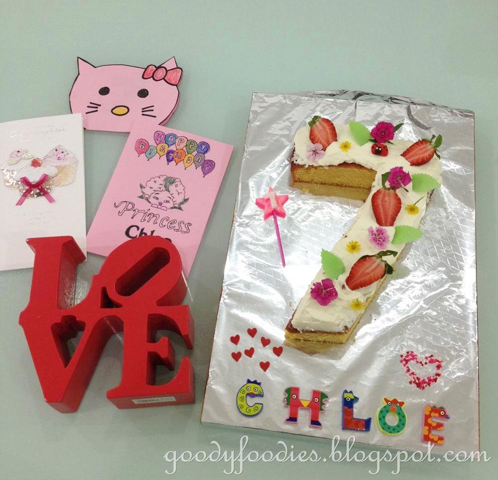 Astonishing Goodyfoodies How To Make Number 7 Birthday Cake Funny Birthday Cards Online Inifodamsfinfo