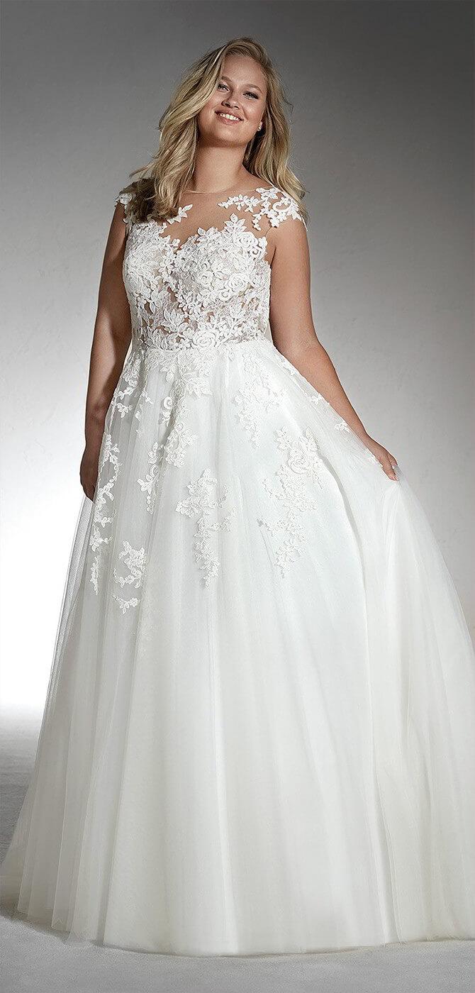 White One 2018 Plus Size Wedding Dresses - World of Bridal