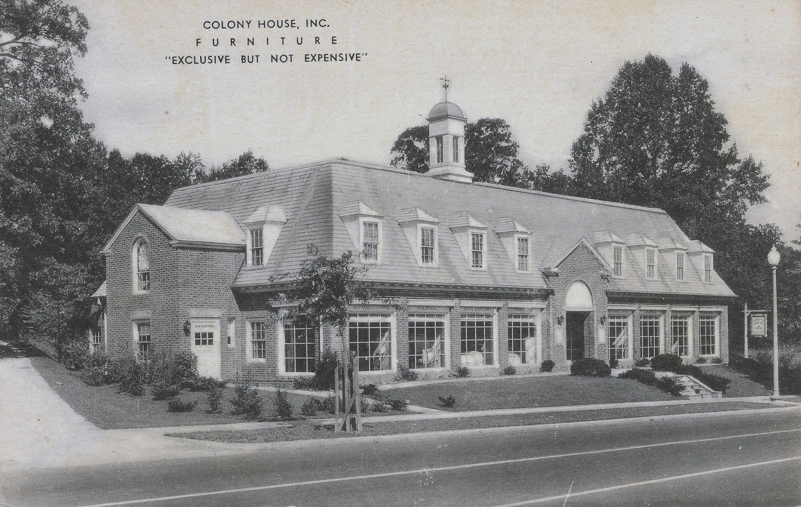 Postcard View Of The Colony House Furniture Store At 4244 Connecticut  Avenue NW (authoru0027s Collection).