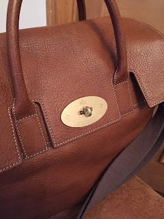Mulberry Medium Cara in Oak Natural Vegetable Tanned Oak Leather