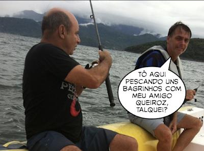 Bolsonaro pecando com Queiroz