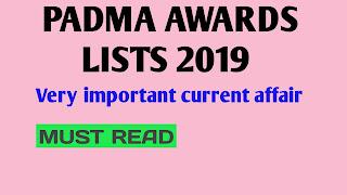 2019 Padma awards winners