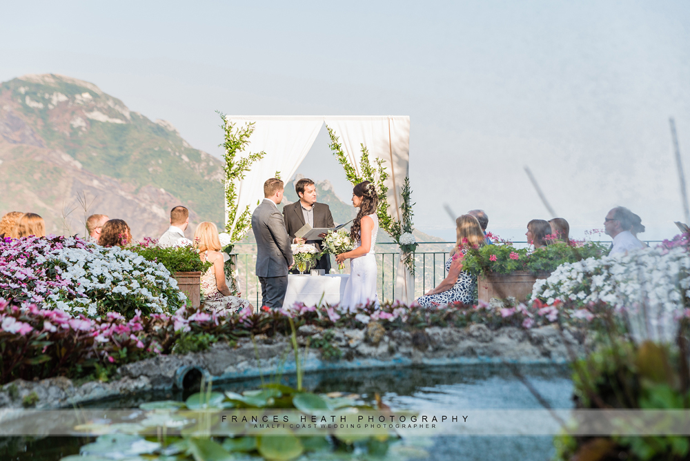 Ravello wedding ceremony