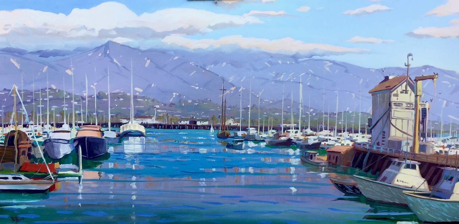 """""""POSTCARDS FROM SANTA BARBARA"""" a daily painting project by ..."""