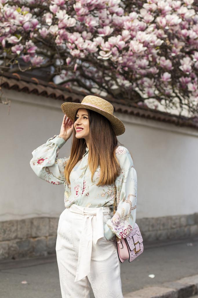 adina nanes how to wear the straw hat