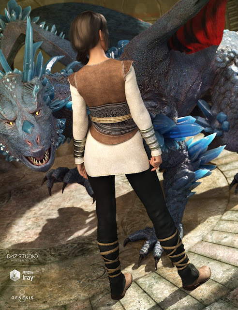 Dragon Tamer Outfit for Genesis 8 Female
