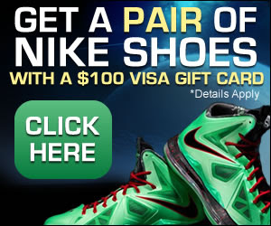 Nike Shoes Visa Gift Card