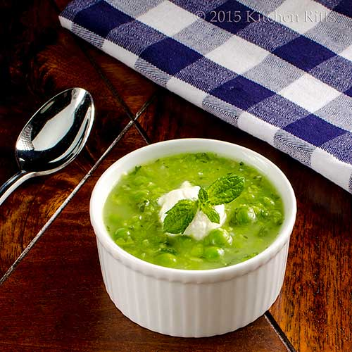 Summer Pea Soup with Mint
