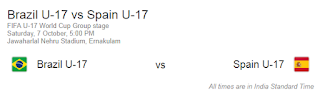 Brazil U17 vs Spain U17 match Fifa 2017
