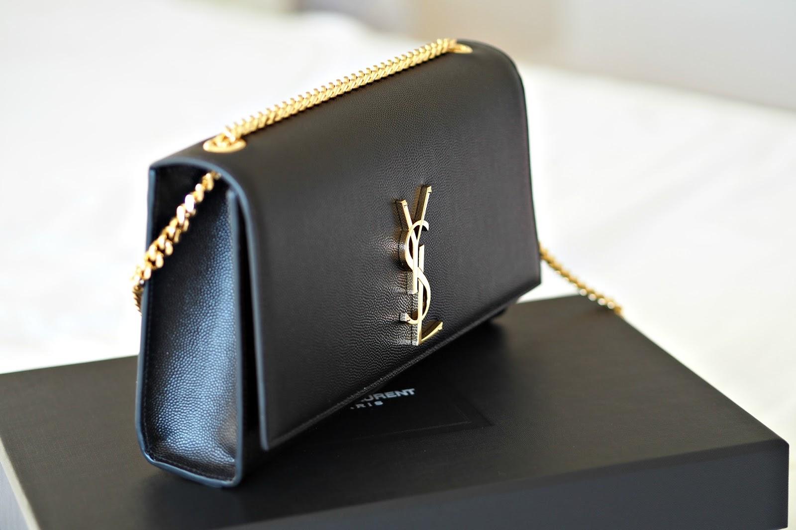 Saint Laurent Classic Medium Kate Monogram Handbag in black, bond street