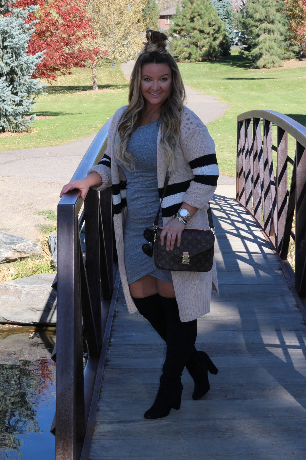 1 Colorblock Cardigan 3 Ways  by Denver fashion blogger Delayna Denaye