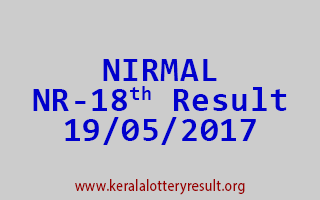 NIRMAL Lottery NR 18 Results 19-5-2017
