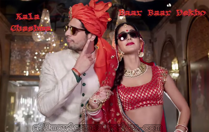 Still Sidharth Malhotra and Katrina Kaif from Video Kala Chashma