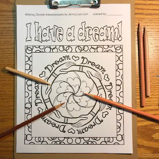 I have a dream coloring page