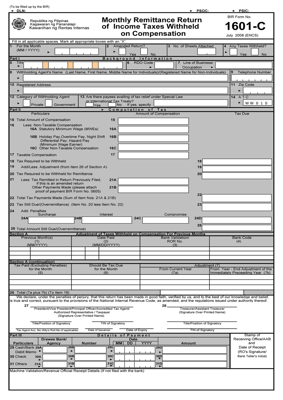 income tax return instructions