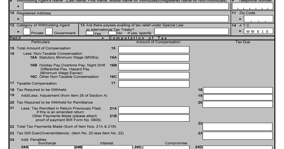 busapcom: BIR Form 1601C Download
