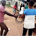 [VIDEO] Serious matter oo! Watch Shocking moment man exposes his penis in public as he threatens to rape a female PHCN staff for disconnecting his power cable