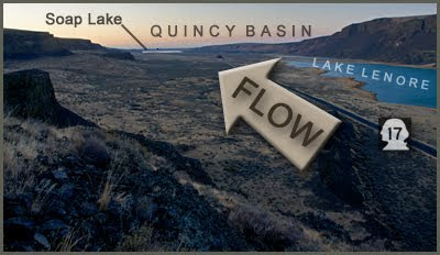 Grand Coulee, Soap Lake and Quincy Basin view.