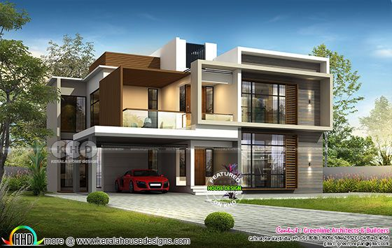2801 sq-ft 4 bedroom house plan in modern style