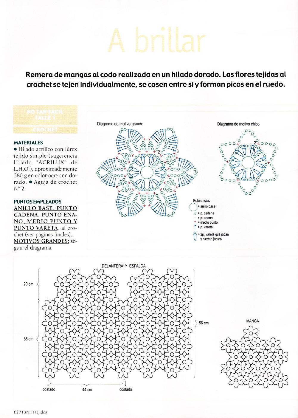 Jersey media manga de flores 6 pétalos