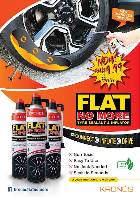 Kronos Flat NoMore Tyre Sealant & Inflator
