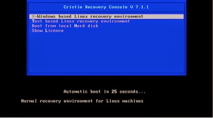 How to install and configure Cristie TBMR to do bare metal recovery of Linux servers