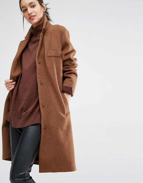 just female brown coat, brown wool coat, tan wool coat, just female tan coat,