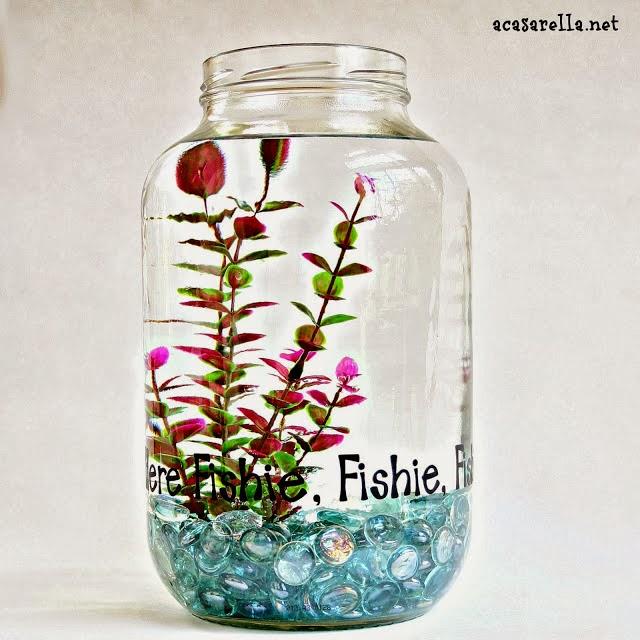 Crafts With Jars Pickle Jar Fish Bowl