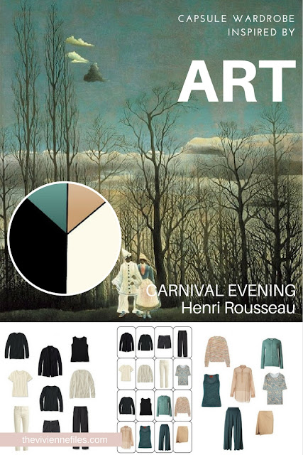 How to Use Both Warm & Cool Accents in a Capsule Wardrobe - Start with Art: Carnival Evening by Henri Rousseau