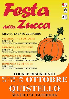Festa della Zucca dal 7 al 16 Ottobre Quistello (MN) 2016