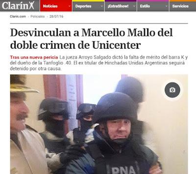 Por ello, hoy la jueza Arroyo Salgado resolvió desvincular a Mallo y a Giso del doble crimen de Unicenter y dejar en claro que lo que ocurrió con las