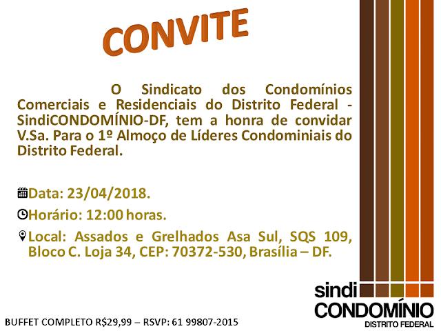 ALMOÇO DE LÍDERES CONDOMINIAIS