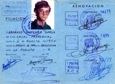 Ficha federativa del ajedrecista Armand Giménez García