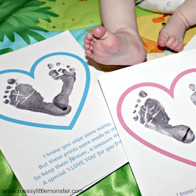 footprint or fingerprint heart poem