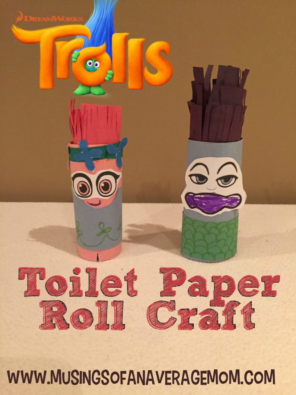 Musings of an average mom free trolls crafts for Design your own toilet paper